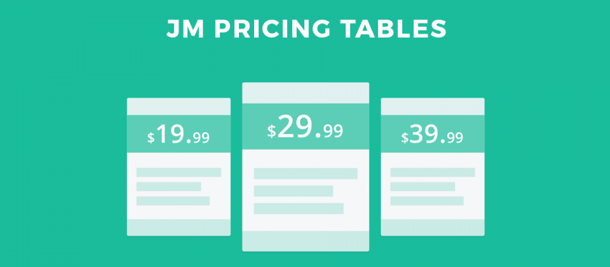 JM Pricing Tables